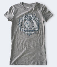 Aeropostale Earth Air Water Fire Graphic Tee