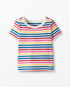Hanna Andersson Bright Basics Stripe Tee In Organi