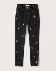 High Rise Super Skinny Ankle Jeans, EMBROIDERED WA