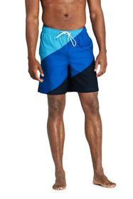 """Lands End Men's Big and Tall 8"""" Colorblock Volley"""