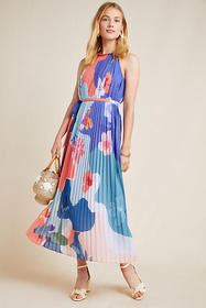 Anthropologie Encanta Abstract Maxi Dress