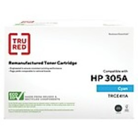 TRU RED™ HP 305A (CE411A) Cyan Remanufactured Stan