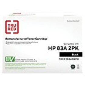 TRU RED™ HP 83A (CF283AD) Black Remanufactured Sta
