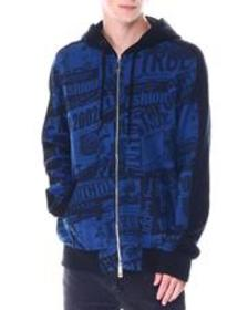 True Religion zip up hoodie with print