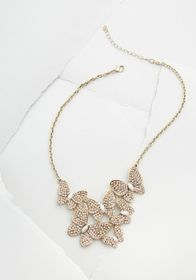 Elegant Butterfly Statement Necklace Gold