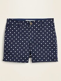 Mid-Rise Printed Everyday Shorts for Women -- 5-in
