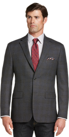 Jos Bank Traveler Collection Tailored Fit Plaid Sp
