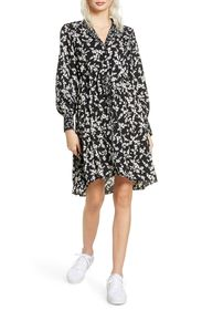 French Connection Bruna Floral Long Sleeve Shift D