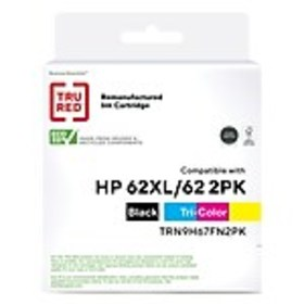 TRU RED™ HP 62XL/62 (N9H67FN) Black/Tricolor Reman