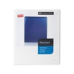 Staples Standard 1/2 3-Ring View Binder, White (26