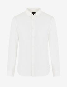 Armani COTTON SHIRT WITH EMBROIDERED LOGO