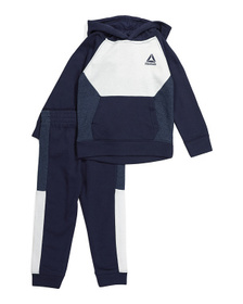 REEBOK Little Boys French Terry Hoodie And Pant Se
