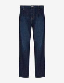 Armani RECYCLED ORGANIC COTTON-BLEND TROUSERS