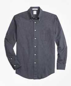 Brooks Brothers Regent Fit Indigo Chambray Micro-C