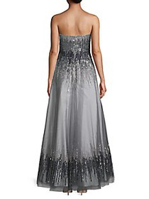 Basix Black Label Strapless Ombre Sequin Gown