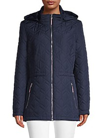 Tommy Hilfiger Diamond-Quilted Hooded Jacket