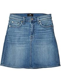 7 For All Mankind Mini Skirt in Shoreline Drive