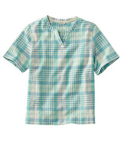 LL Bean Women's Textured Linen/Cotton Shirt, Short