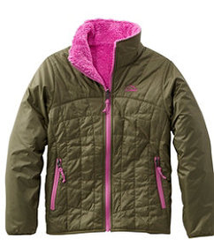 LL Bean Girls' Mountain Bound Reversible Jacket