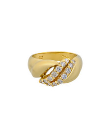 Salvini 18k Split Diamond Ring Size 7