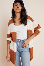Anthropologie Charlize Striped Cardigan
