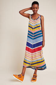 Anthropologie Rainbow Chevron Midi Dress