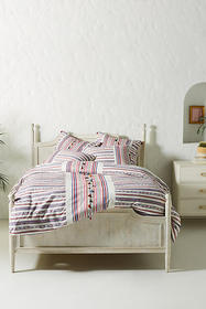 Anthropologie Woven Rosado Duvet Cover