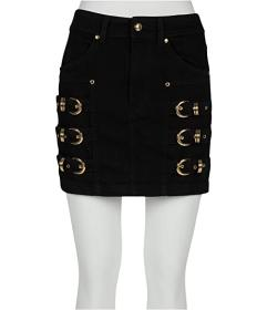 Versace Jeans Couture Denim Mini Skirt with Gold R