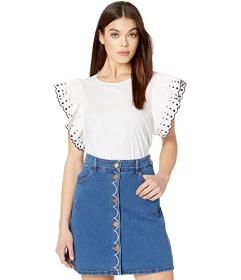 See by Chloe Embroidered Cotton Poplin T-Shirt