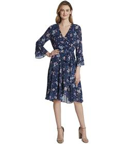 Tahari by ASL Smocked Wrap Dress