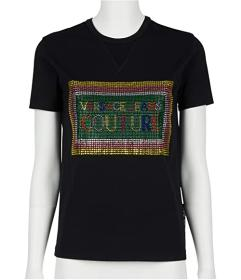 Versace Jeans Couture Short Sleeve Cropped Tee w\u