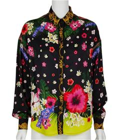 Versace Jeans Couture Floral Print Woven Shirt