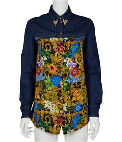 Versace Jeans Couture Western Denim Print Shirt