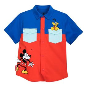 Disney Mickey Mouse and Pluto Woven Shirt for Todd