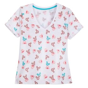 Disney Mickey and Minnie Mouse Donut T-Shirt for W