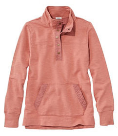 LL Bean Women's Rocky Coast Sweatshirt, Snap Henle