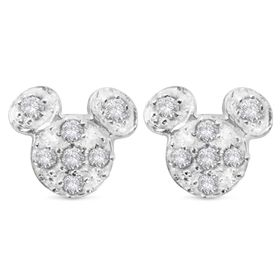 Disney Mickey Mouse Pavé Icon Earrings