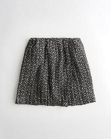 Hollister Ultra High-Rise Pleated Mini Skirt, BLAC