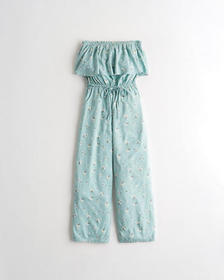 Hollister Strapless Crop Wide-Leg Jumpsuit, MINT F