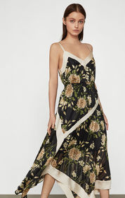 BCBG Garden Floral Handkerchief Dress