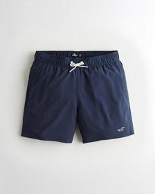 "Hollister 4-Way Stretch Guard Swim Trunk 5"", NAVY"