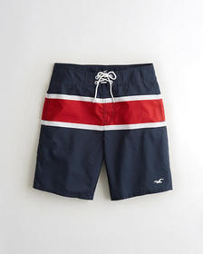 Hollister Boardshort 9 in., Navy Stripe