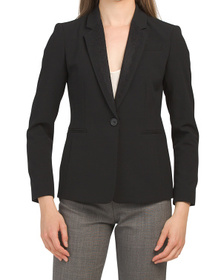 TAHARI BY ASL Petite Lace Combo One Button Jacket