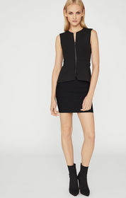 BCBG Abrielle Sleeveless Peplum Top