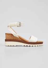 See by Chloe Robin 50mm Cork Ankle Strap Sandals