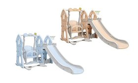 3 in 1 Climber Slide Playset with Basketball Hoop