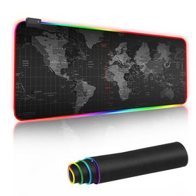 Extended RGB Soft Gaming Mouse Pad, Large Glowing