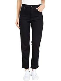 7 For All Mankind High-Waist Cropped Straight in N