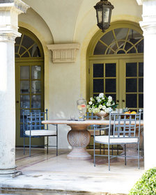 Double Pedestal Indoor/Outdoor Dining Table