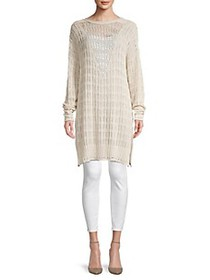 Free People Pretty In Pointelle Tunic Sweater